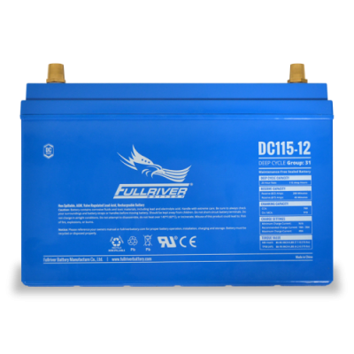 DC115-12 Deep-Cycle AGM Battery