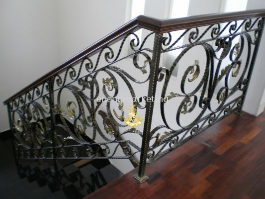 WIST 04- Wrought Iron Staircase Railing