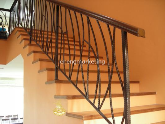 WIST 06- Wrought Iron Staircase Railing