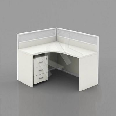 1 Seater Fabric Partition Office Workstation