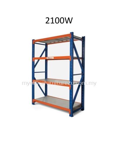 Medium duty boltless rack 4 shelves