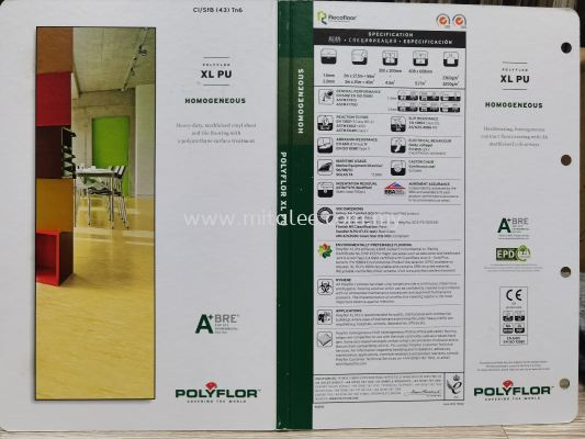 Polyflor XL PU 2mm vinyl sheet