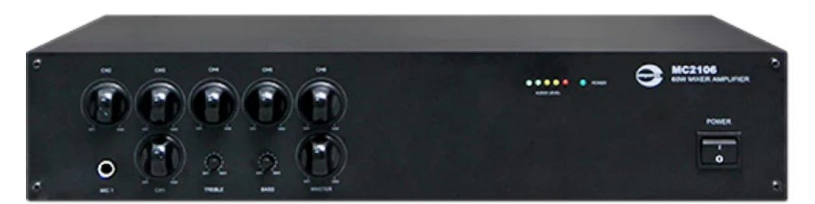MC2106. Amperes 60W 100V line basic mixer amplifier. #AIASIA Connect