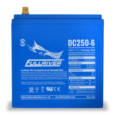 DC250-6 Deep-Cycle AGM Battery