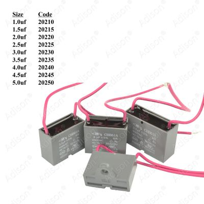 Code: 20220 2.0 uf Fan Capacitor Wire Type