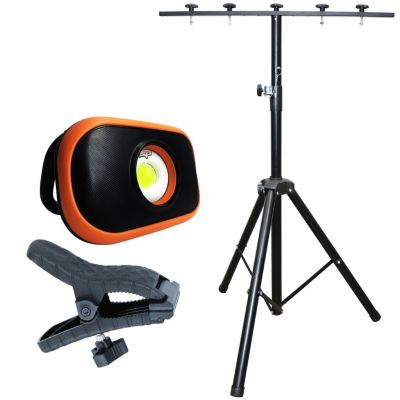 SP TOOLS FLOOD LIGHT - MINI COB LED - OPTICAL LENS - INCLUDES TRIPOD SP81485