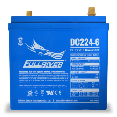 DC224-6 Deep-Cycle AGM Battery
