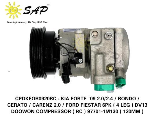 CPDKFOR0920RC - KIA FORTE '09 2.0/2.4 / RONDO / CERATO / CARENZ 2.0 / FORD FIESTAR 6PK ( 4 LEG ) DV1