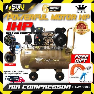 King EAW-1060G Air Compressor 1HP 60Liter