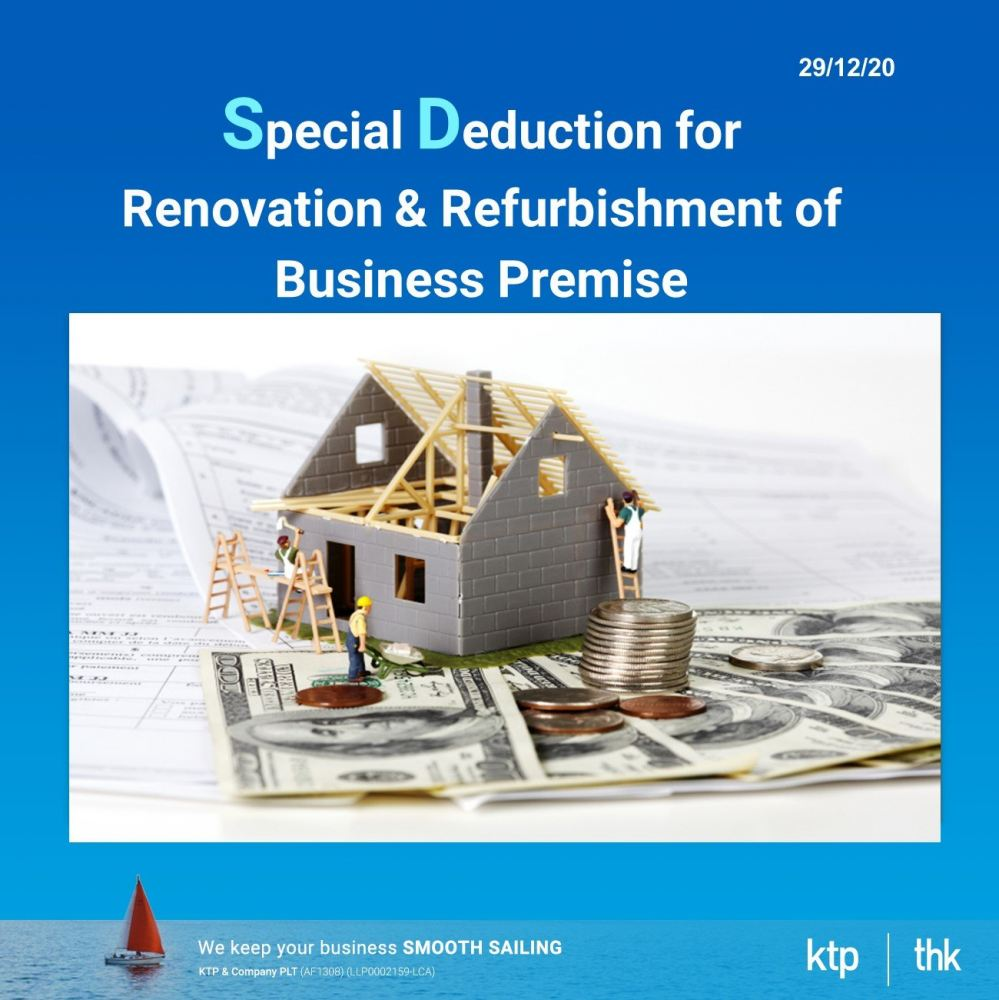 Special Deduction for Renovation & Refurbishment of Business Premise