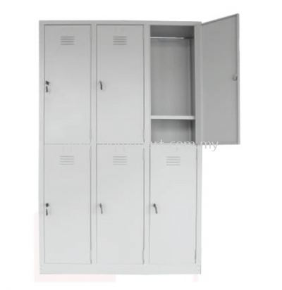 A141-A 6 COMPARTMENT STEEL LOCKER