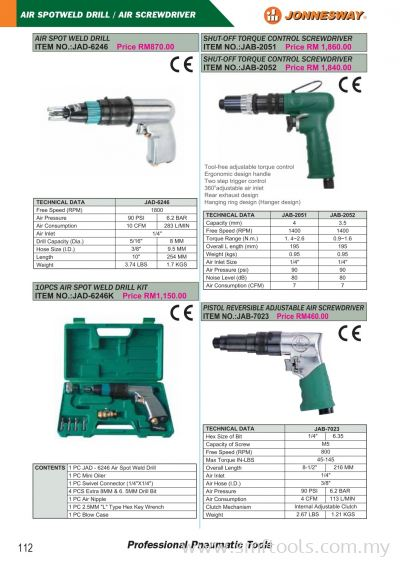 Air Spoteld Drill/ Air Screwdriver