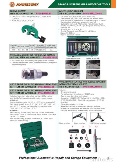 Brake & Suspension & Undercar Tools