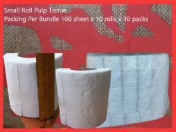 small roll pulp tissue 100 rolls
