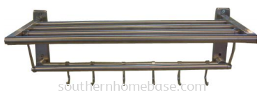 STAINLESS STEEL TOWEL RAIL WITH HOOK E141N