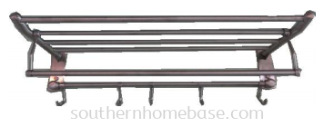 STAINLESS STEEL 2 LAYER TOWEL RAIL WITH HOOK E189N