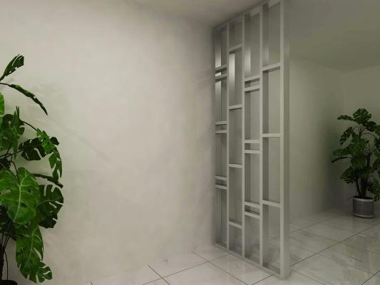 新山客厅设计参考 (订制屏风)
