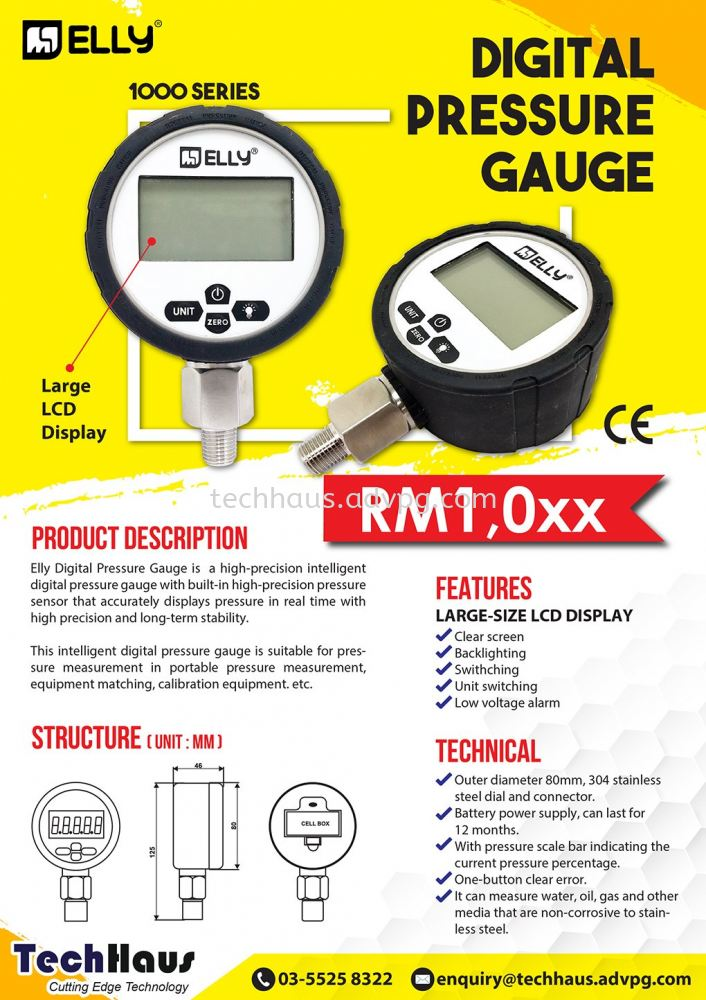 ELLY Digital Pressure Gauge
