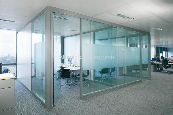 Office Shop Front with Tempered Glass Door