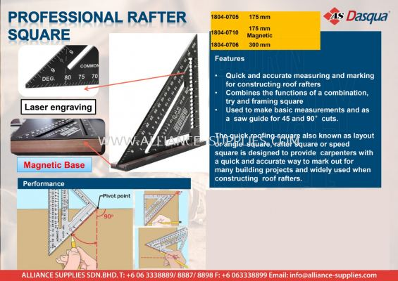 Professional Rafter Square
