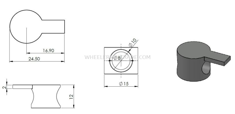 I Connector for Aluminium Profile P6 Series