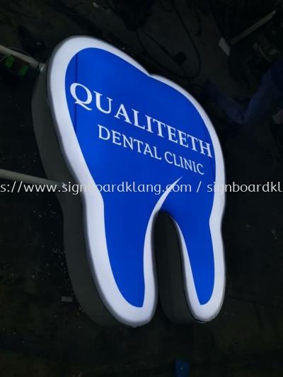 qualiteeth Dental clinic double side round shape LED light box