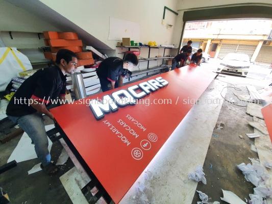 Mqcars Aluminum Pylon stand 3D LED channel box up lettering frontlit signage at Kuala Lumpur