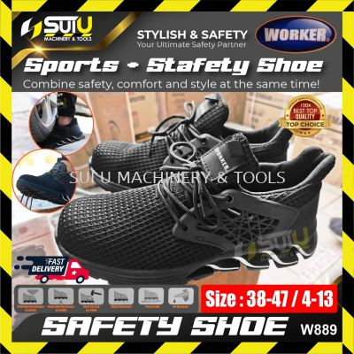 WORKER W889 Safety Shoes Sport Shoes Wear-Resistant Anti-Smashing Anti-Puncture Work Sneakers Protec