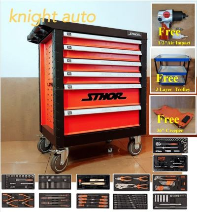Free-Poland Sthor YT-58550 6 Drawers Roller Cabinet With 302pcs Tools ID31321