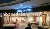 Hariz Carpets 3D box up lettering led conceal frontlit signage at shah alam mall 3D LED SIGNAGE