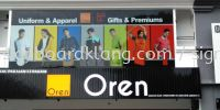 Oren sport Aluminium Trim casing 3D box up led channel lettering signboard signage at petaling jaya Kuala Lumpur ALUMINIUM CEILING TRIM CASING 3D BOX UP SIGNBOARD