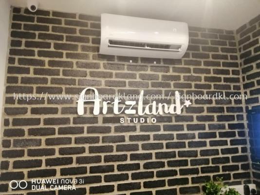 Artzland studio 3D box up lettering indoor signage at puchong Kuala Lumpur