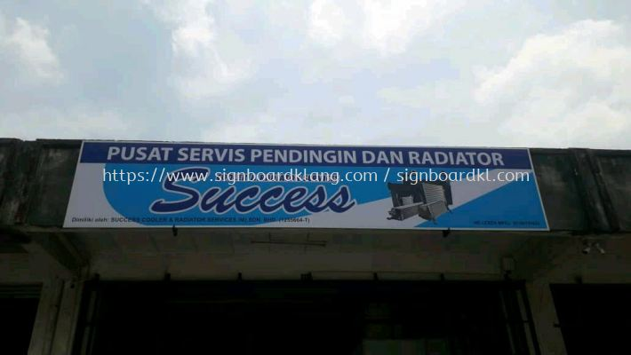 succell workshop and service centre normal G.i signboard at puchong Kuala Lumpur