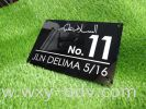 Acrylic Number Plate Number Plate
