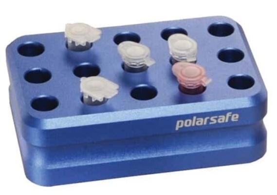 EW-63615-01 Argos Technologies PolarSafe® Aluminum Cooling Block, 15-Well for 1.5/2.0 mL Tubes