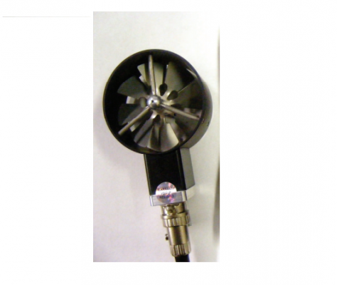 APT275 - 2.75 Inch Rotating Vane Anemometer Probe with Integral RTD Temperature Sensor