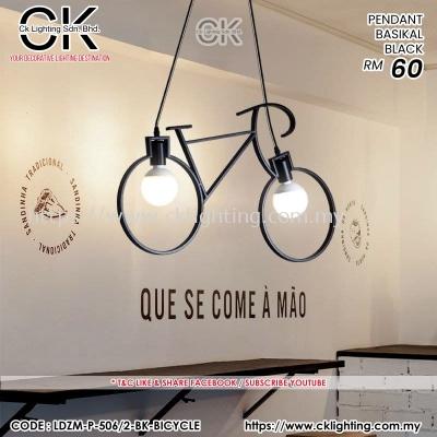 CK LIGHTING PENDANT BASIKAL BLACK (LDZM-P-506/2-BK-BICYCLE)