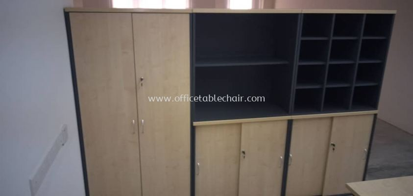 DELIVERY & INSTALLATION T-YD 17 HIGH CABINET & LOW CABINET GS 880, GO 880 LOW CABINET W/O DOOR, GP 880 LOW PIGEON HOLE CABINET OFFICE FURNITURE TITIWANGSA, KUALA LUMPUR