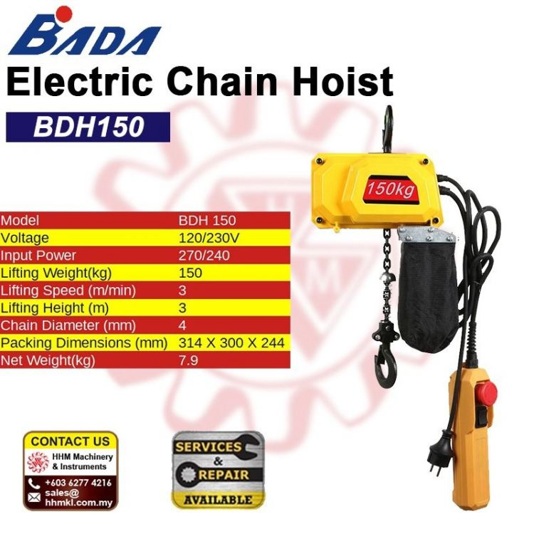 BADA Electric Chain Hoist BDH150
