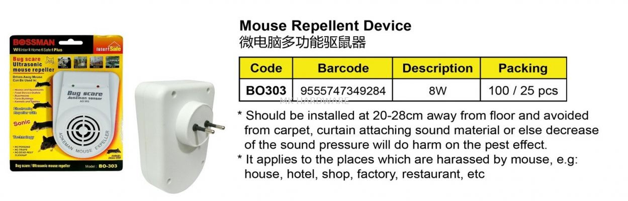 MOUSE REPELLENT DEVICE