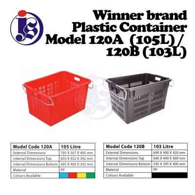 Winner Plastic Container Model 120 / 120B