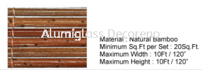 Specification Bamboo Blind Outdoor Curtain Blind