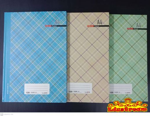 HARD COVER BOOK A4 70 GSM 120 PAGES