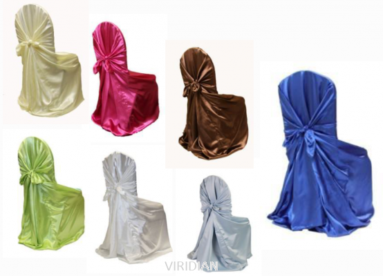 Universal Self Tie Satin Chair Cover