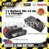 Bosch 18v Battery Charger AL1814CV 1.5Ah Battery Al 1814 CV BOSCH 18V BATTERY Battery Charger Battery & Electrical