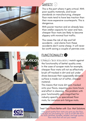 Diffrence between good and cheap floor mats