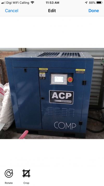 (2 in 1) 20HP �� ACP�� PERMANENT MAGNET INVERTER ROTARY SCREW AIR COMPRESSOR ON 300L HORIZONTAL AIR RECEIVER TANK MODEL : RS20E-P/300