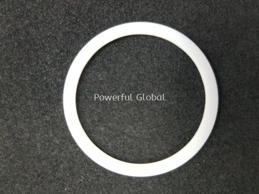 White PTFE Gasket Seal Flat