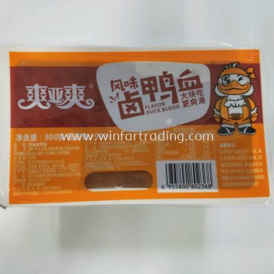 SHUANG YA SHUANG HOT POT ONIGINAL TASTE DUCK BLOOD CAKE 300G BC 9655800802368