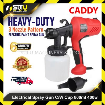 CADDY ELECTRICAL SPRAY GUN C/W CUP 800ML 400W Container Electric Paint Sprayer Gun Three Nozzle Patt